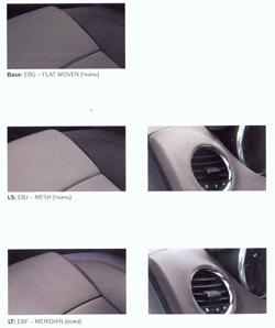chevrolet cruze отделка салона ткань EBG FLAT WOVEN и MESH MERIDIAN( кожа)